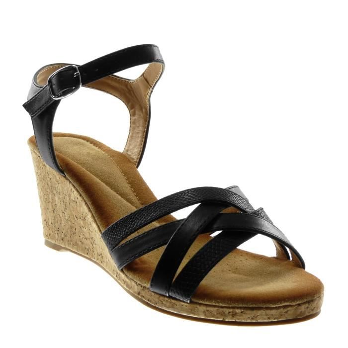 6f710524caa248 Angkorly - Chaussure Mode Sandale lanière cheville femme multi-bride ...