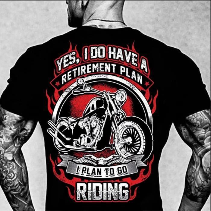 T-shirt Biker Homme T-shirt Mode Homme à