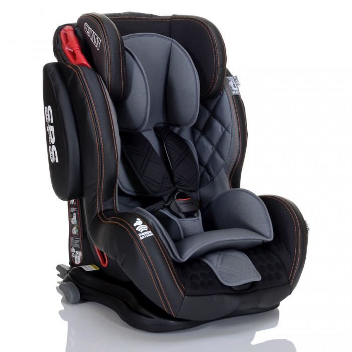 si ge auto bebe saturn gt isofix 9 36 kg jet noir cuir eco avec system protection laterale sps. Black Bedroom Furniture Sets. Home Design Ideas