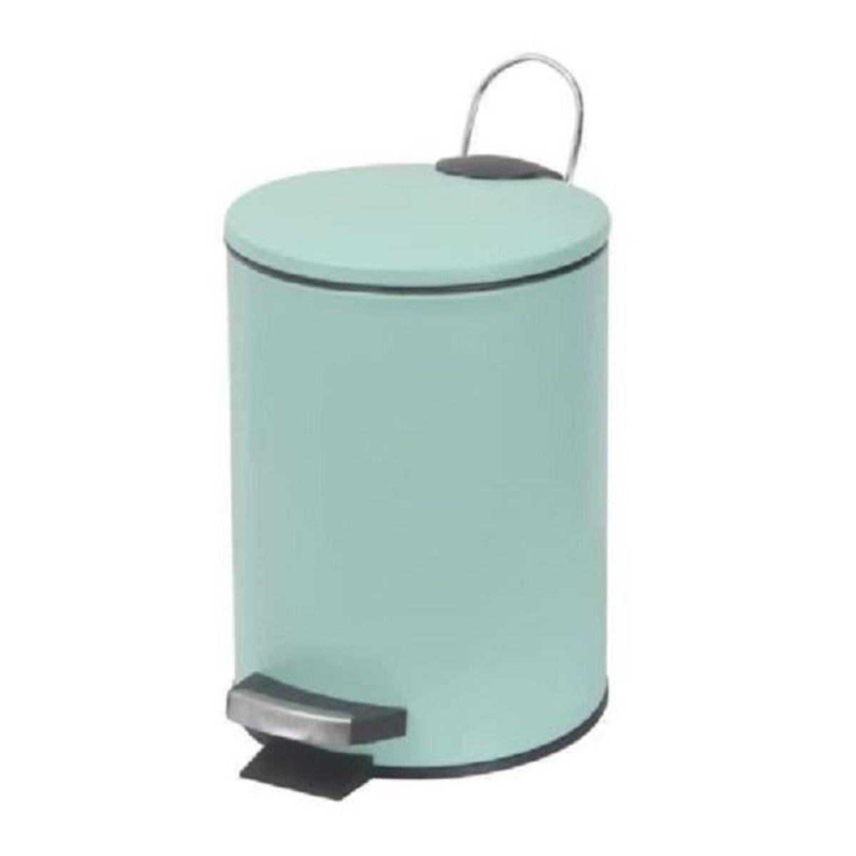 POUBELLE - CORBEILLE Poubelle à pédale-couvercle Vert d'eau mat - Dim :