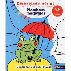 DOCUMENTAIRE ENFANT NATHAN Coloriages Malins - Nombres Magiques Moyenn