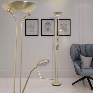 LAMPE DE JARDIN  FIHERO Lampadaire à LED à éclairage réglable 23 W