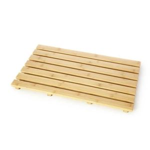 ANTI-DÉRAPANT BAIN La douche tapis en bamboo rectangulaire salle de b