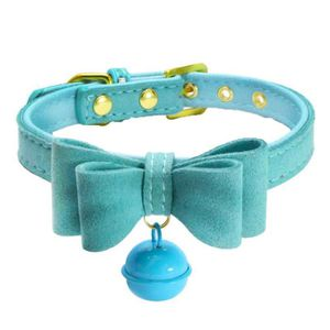 COLLIER Avec Cloche cuir réglable Collier Pet Puppy Collie
