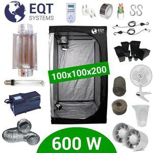 KIT DE CULTURE Pack Box 600W Cooltube 100x100 - Black Box 2 + Sup