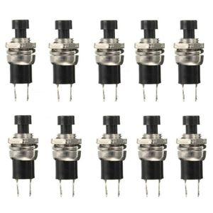 POUSSOIR ÉLECTRONIQUE 10x 2 Pin Bouton Poussoir Interrupteur Momentary S