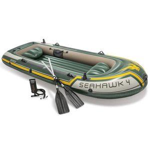 BATEAU PNEUMATIQUE Set bateau gonflable avec rames + pompe Seahawk 4