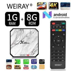 BOX MULTIMEDIA TV Box - WEIRAY® Décodeur multimédia Smart  X98min