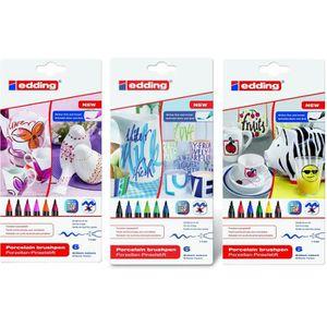 MARQUEUR 4200 Marqueurs pour porcelaine, set 3 x 6, 1-4 mm,