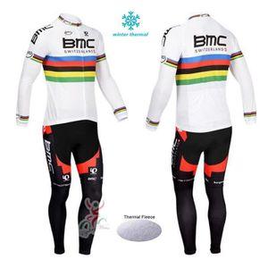 TENUE DE CYCLISME BMC Maillot de Cyclisme Hiver Thermique Fleece lon
