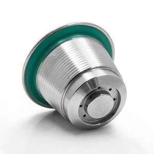 DISTRIBUTEUR CAPSULES 2Pcs Capsule de café réutilisable en acier inoxyda