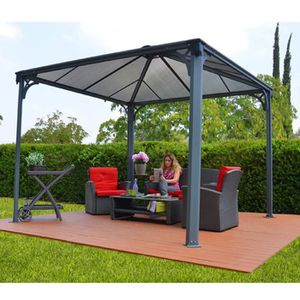 pergola toile retractable achat vente pergola toile retractable pas cher cdiscount. Black Bedroom Furniture Sets. Home Design Ideas