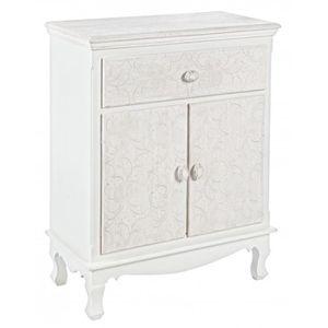 PETIT MEUBLE RANGEMENT  Petit meuble avec 2 portes et 1 tiroir - Dim : L 6