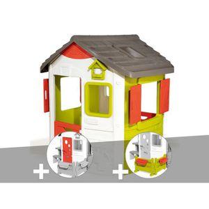 MAISONNETTE EXTÉRIEURE Cabane enfant Neo Jura Lodge - Smoby + Porte maiso