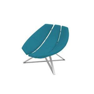 FAUTEUIL Fauteuil design RADAR rotatif en microfibre bleu a
