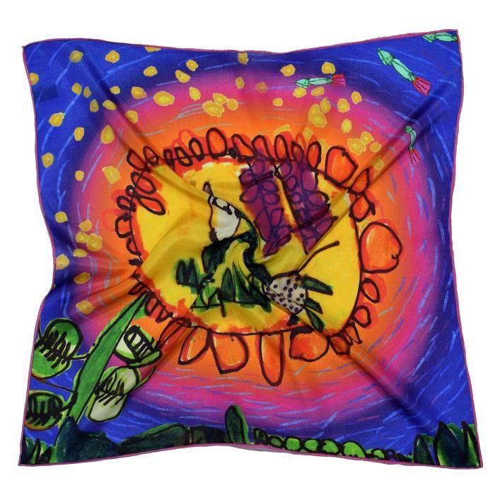 Serre-Tete Professionnel PYWHY Multicolour Animal Thick Small Silk Square Scarf
