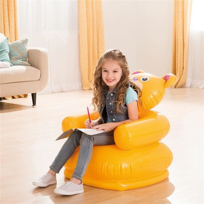Cartoon Creative enfants canapé gonflable maison jaune animal Seat DOY90718004B