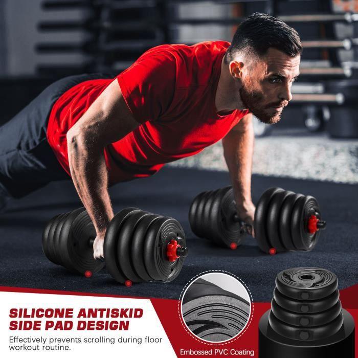 haltères 30 kg musculation Sport haltère reglable avec barres