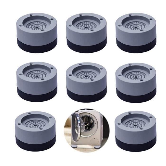 Tampon Anti-Vibration Lave Linge 8pcs Patins pour Lave Linge Patins Antidérapants Anti-Vibrations Tampons à Pied Machine à Laver
