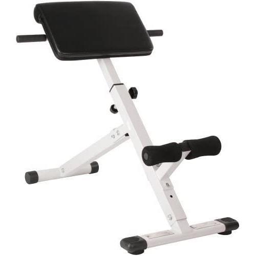 Banc de Musculation pour Dos - Pliable- Réglable en Hauteur (4 Positions)- 45°- Charge Max. 120 kg - Appareil Hyper Extension-[75]