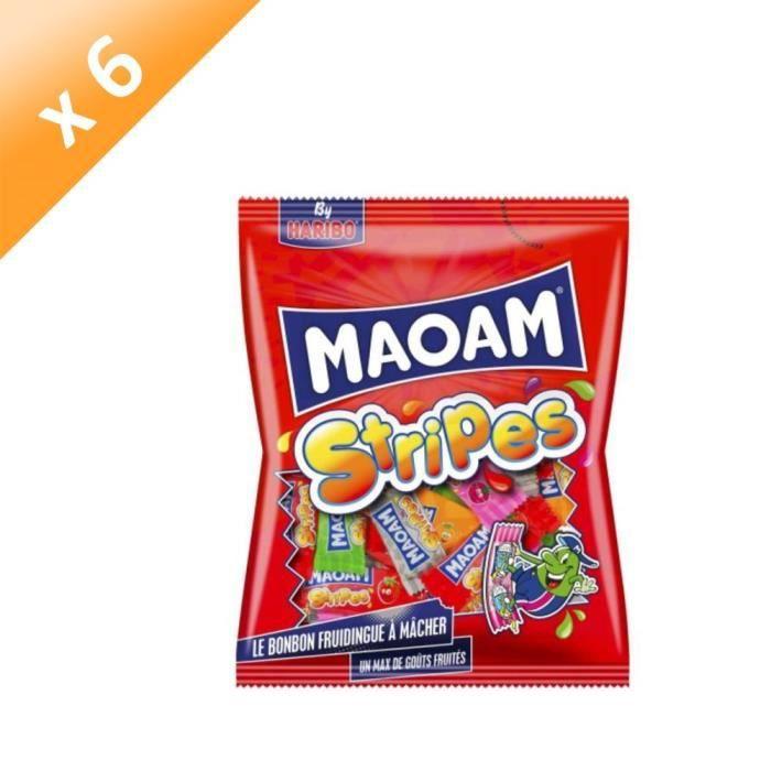 [LOT DE 6] HARIBO Bonbons tendres Maoam Stripes multipack - 250 g