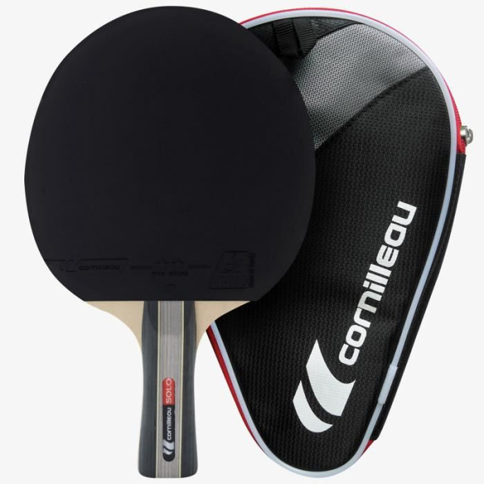 Raquette tennis de table Sport pack solo 1 housse 3 balles - Cornilleau UNI Rouge