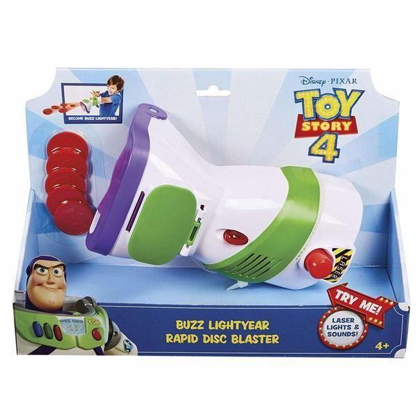 Toy story 4 - GDP85 - pistolet communicateur Buzz l'éclair - émet des sons et lumières + 5 disques - Neuf