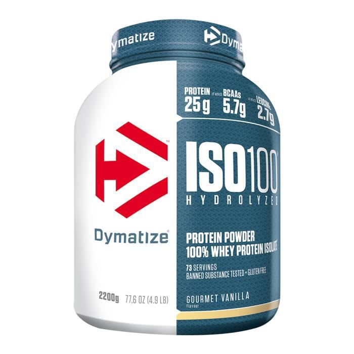 DYMATIZE - ISO 100 Hydrolyzed 4.9 lb (2200g) - Vanille gourmet