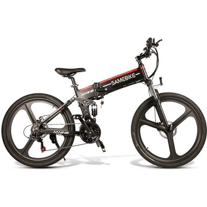 LO26-BKNEW - 48V 350W - Vélo électrique à assistance électrique pliable de 26 pouces pour vélo électrique