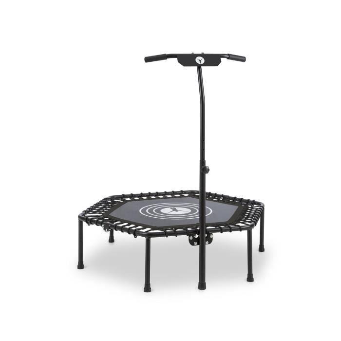 Klarfit Jumpanatic Trampoline fitness 44- Ø 112cm barre de maintien pliable noir