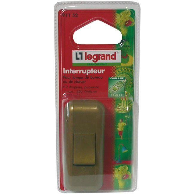 Interrupteur pour lampe - 2 A - vieil or