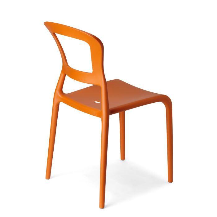 6 Chaises oranges design PEPPER - Lot de 6 - déco