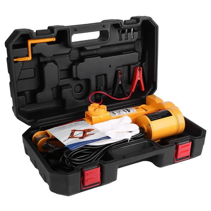 VINGVO-Cuque 2 Tonnes 12V DC Kit de Cric en Métal pour Voiture Équipement d'Urgence pour SUV Automobile