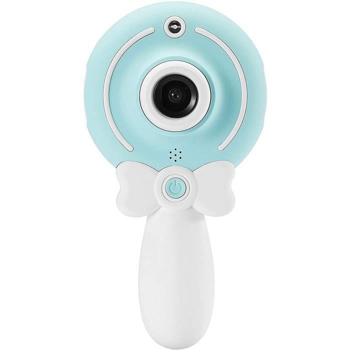 WE Appareil Photo numérique Enfant, caméra avant et arrière, écran couleur, 1.3MPx, rechargeable, micro SD 8GB Bleu Ciel