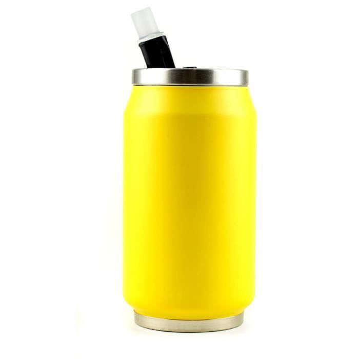 YOKO DESIGN Canette isotherme summer 280ml fluo jaune