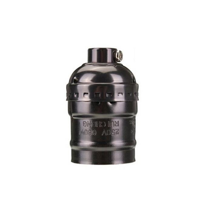 Black no switch-E27 -Douille à vis rétro Edison E27,haute qualité,Vintage,rétro,support d'ampoule suspendue,avec interrupteur-s