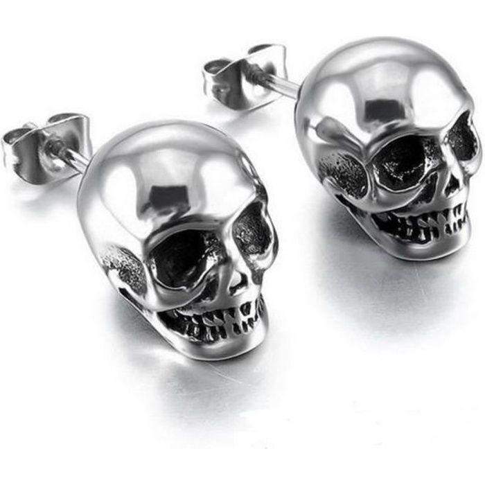Lot de 10 pendentifs en forme de t/ête de mort avec strass Argent/é 20 x 18 mm
