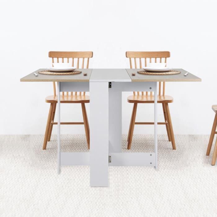 Laizere Table Pliante Style Moderne Pour Cuisine Salle A Manger Salon Blanc Chene Achat Vente Table A Manger Seule Laizere Table Pliante Style Cdiscount