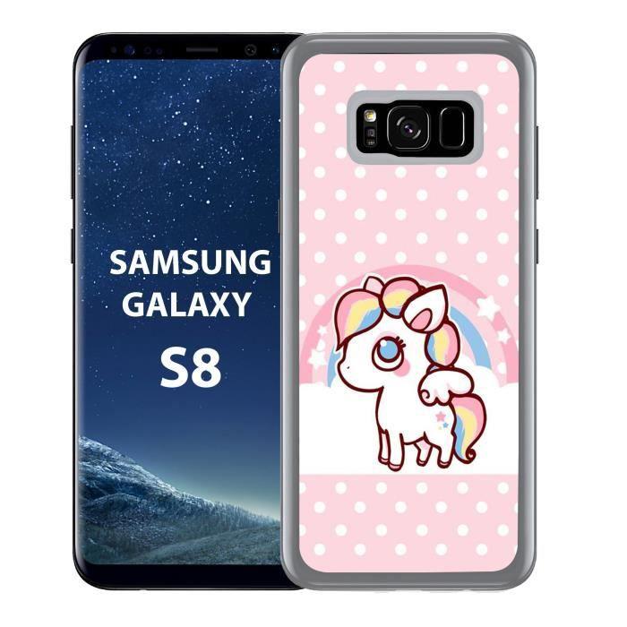 Coque Samsung Galaxy S8 Licorne Kawaii