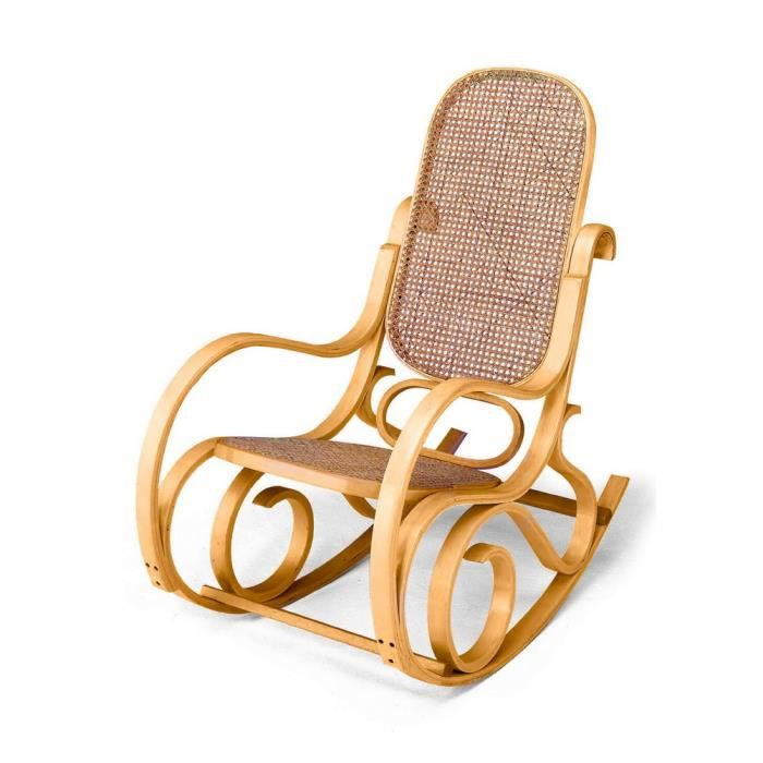 rocking chair louisiane naturel achat vente fauteuil bois cdiscount. Black Bedroom Furniture Sets. Home Design Ideas