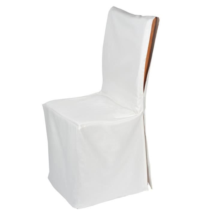 Madura housse de chaise ajust pampa taille unique blanc for Housse assise de chaise