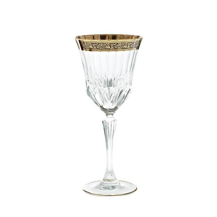verres vin en cristal goldband 280 ml achat vente verre vin cdiscount. Black Bedroom Furniture Sets. Home Design Ideas