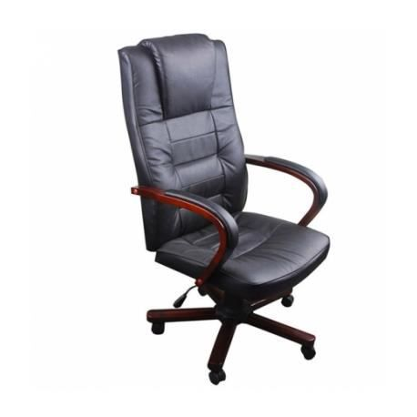 fauteuil de bureau cuir et bois achat vente chaise de bureau cdiscount. Black Bedroom Furniture Sets. Home Design Ideas