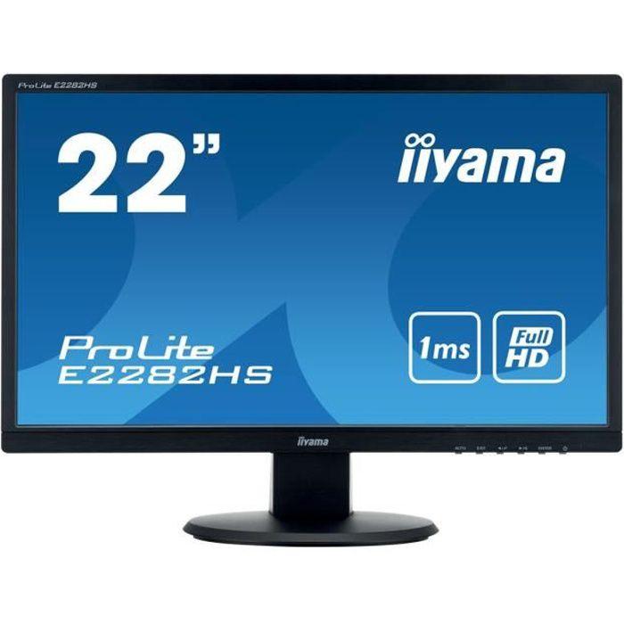 """ECRAN ORDINATEUR IIYAMA Écran LED ProLite E2282HS-B1 - 22"""" (21.5"""" v"""