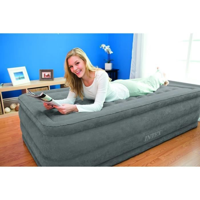 lit gonflable 1 place gonfleur int gr achat vente lit gonflable airbed cdiscount. Black Bedroom Furniture Sets. Home Design Ideas