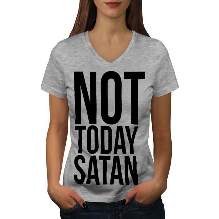 Drôle Nouveauté T-shirt homme tee tshirt-PAS AUJOURD/'HUI Satan