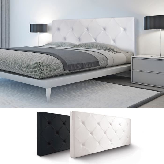 tete de lit blanche achat vente tete de lit blanche. Black Bedroom Furniture Sets. Home Design Ideas