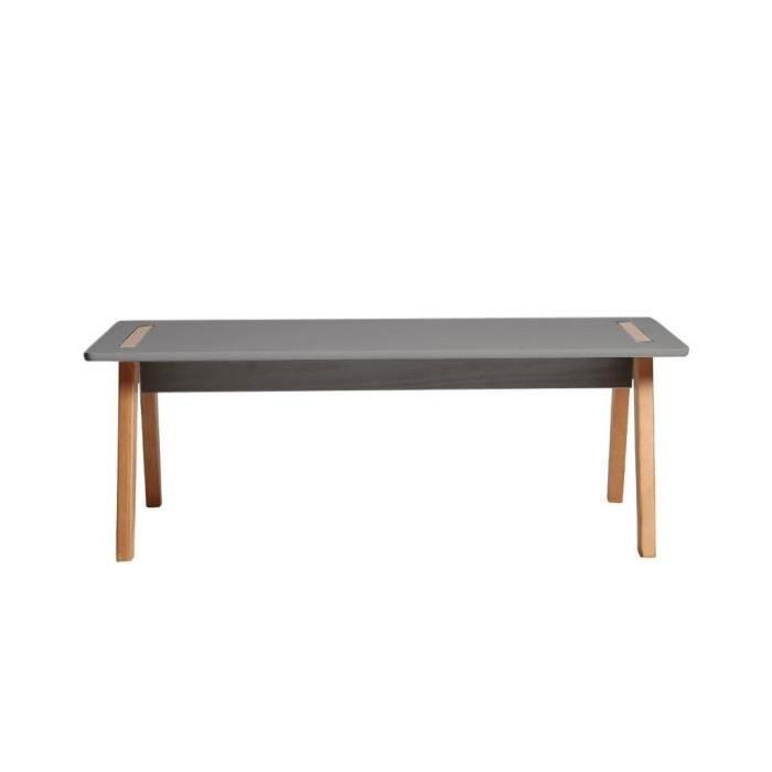 TABLE BASSE SHANA Table basse - Décor anthracite ciré - L 100
