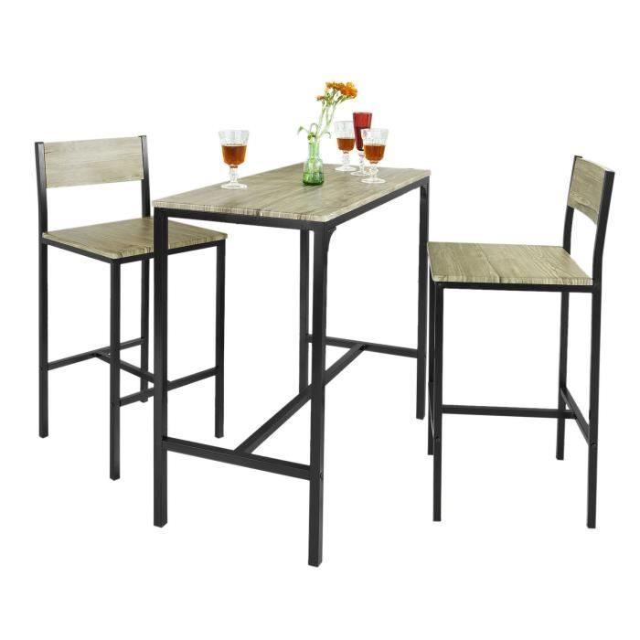 Ensemble Table Bar Tabourets Achat Vente Ensemble