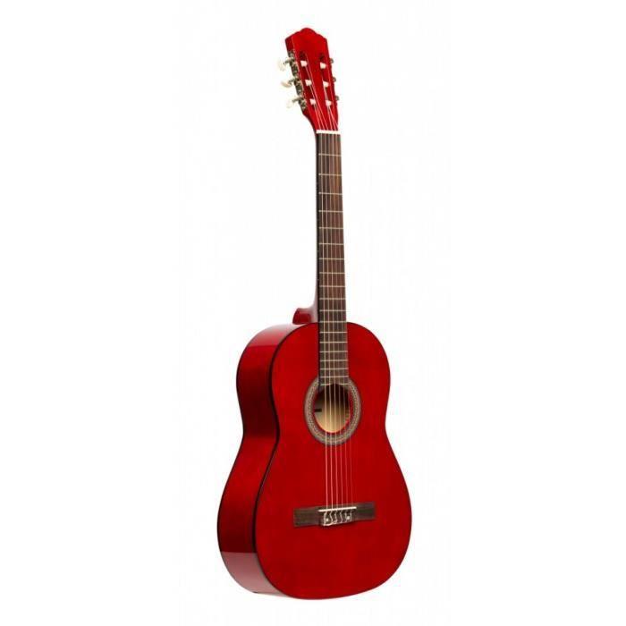 GUITARE Stagg SCL50 1/2-RED - Guitare classique 1/2 brilla